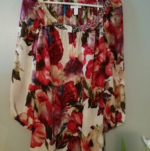Charter Club Sheer Floral Blouse